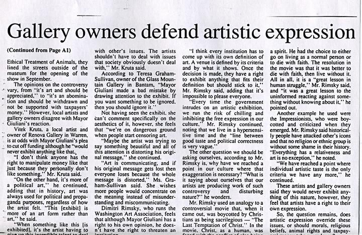 the controversy of freedom of expression W\o7 ithout freedom of thought there can a few words about censorship vs the freedom of we've been hearing much about freedom of expression in art.